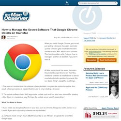 How to Manage the Secret Software That Google Chrome Installs on Your Mac - The Mac Observer