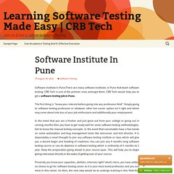 Software Institute In Pune