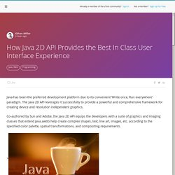 Software Testing Article - How Java 2D API Provides the Best In Class User Interface Experience