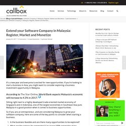 Extend your Software Company in Malaysia: Register, Market, Monetize