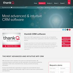 ThankQ CRM Software for NFPs