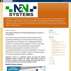 N2N Systems: Why Billing Software for Hospital Management System Is Compulsory