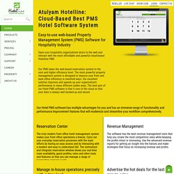 Cloud PMS Hotel Software System and Management -Hotelline.biz