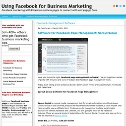 Software for Facebook Page Management: Sprout Social