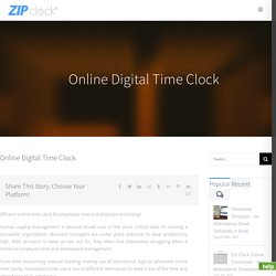 Online Time Clock - Digital Time Clock Software For Managing Employee Time And Attendance