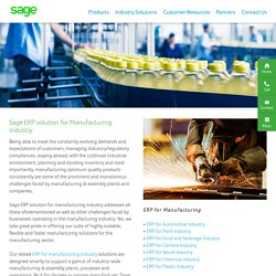 ERP Software for Manufacturing Industry India- Sage Software