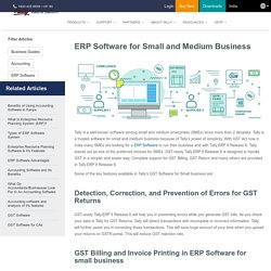 ERP Software for Small and Medium Businesses