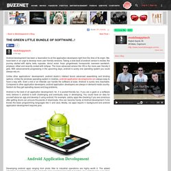THE GREEN LITTLE BUNDLE OF SOFTWARE on mobileapptech's Blog - Buzznet