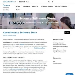 Naunce Software Store for Dragon Naturally Speaking online