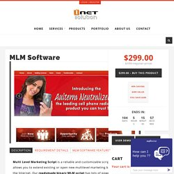 MLM Software – i-Netsolution – Readymade PHP Scripts