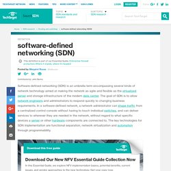 What is software-defined networking (SDN)? - Definition from WhatIs.com