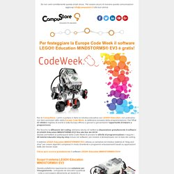 Software EV3 in omaggio per la Europe Code Week!