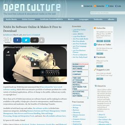 NASA Its Software Online & Makes It Free to Download