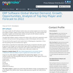 ERP Software Global Market Demand, Growth, Opportunities, Analysis of Top Key Player and Forecast to 2022