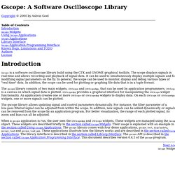 Gscope: A Software Oscilloscope Library