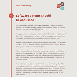 Software patents should be abolished