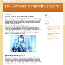 HR Software & Payroll Software: Would you like to choose Social HR Software?