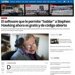 """El software que le permite """"hablar"""" a Stephen Hawking ahora es gratis y de código abierto"""