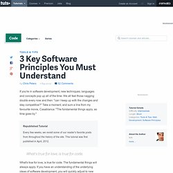 3 Key Software Principles You Must Understand
