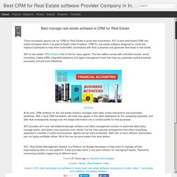 CRM for Real Estate is manage real estate client data