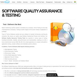 SOFTWARE QUALITY ASSURANCE & TESTING -
