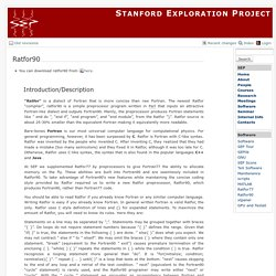 sep:software:ratfor90 [Stanford Exploration Project]