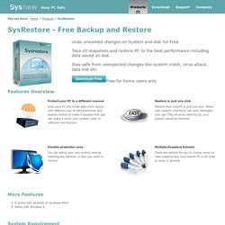 Free System and Disk Backup Software for Recovery