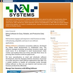 N2N Systems: Billing Software for Easy, Reliable, and Productive Daily Tasks