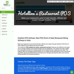 POS Software for Restaurants, Bars, Cafe and Hotels - Hotelline.biz