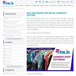 POS Software for Retail Garment Sector - rbw.in
