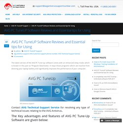 AVG PC TuneUP Software Reviews and Essential tips for Using