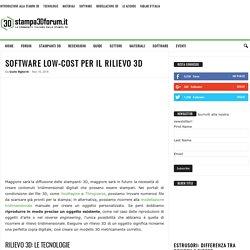 Software low-cost per il rilievo 3D