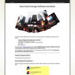 Software: Auto Scene Collage Software and Editor