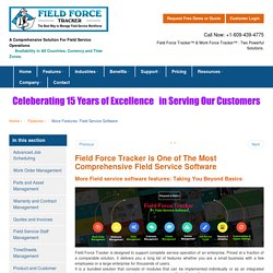 #1 Field Service Software: Dispatch, Scheduling, Mobile Invoice, Timesheets, Employee Tracking by Field Force Tracker