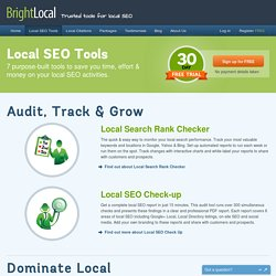 Local SEO Software & Services