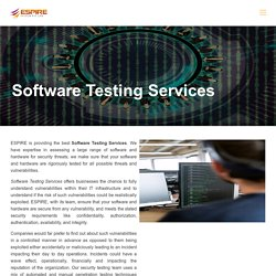 Software Testing Services - End-To-End Solutions - Espire System