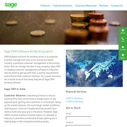 CRM Software Solution for Banking Sector in India – Sage Software