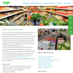 ERP Software Solution for Food and Beverage Industry India - Sage Software