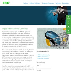 Best ERP Software Solution for Ecommerce Business India- Sage Software