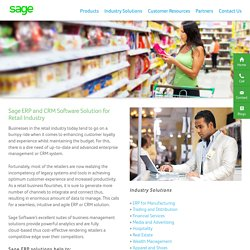 CRM Software Solution for Retail Industry India - Sage Software