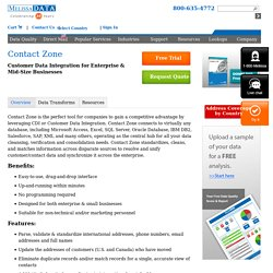 Contact Zone Data Quality Software Solution