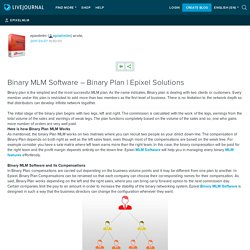 Binary MLM Software – Binary Plan