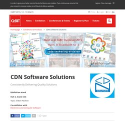 CDN Software Solutions (Indore 452001) - Exhibitor - CeBIT 2016