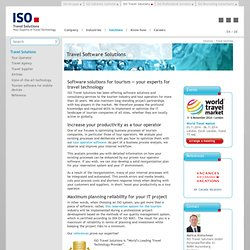 Software solutions for the tourism industry - ISO Travel Solutions