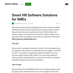 Smart HR Software Solutions for SMEs