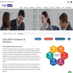 Tally ERP System & Solutions
