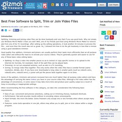 Best Free Software to Split, Trim or Join Video Files