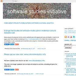 Software Studies