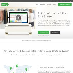 EPOS Software Systems for Retailers - Free Trial on Vend