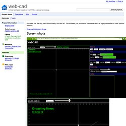 web-cad - A CAD software based on the HTML5 canvas technology.